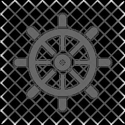 Boat Wheel Icon