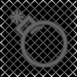 Bomb Line Icon