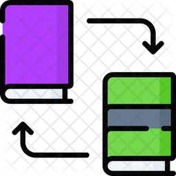 Book Exchange Colored Outline Icon