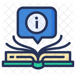 Book Information Colored Outline Icon