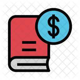 Book Price Icon Of Colored Outline Style Available In Svg Png Eps Ai Icon Fonts