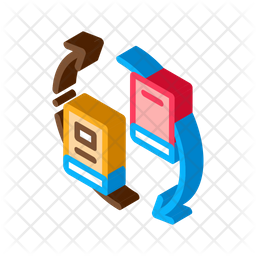 Book Sharing Isometric Icon