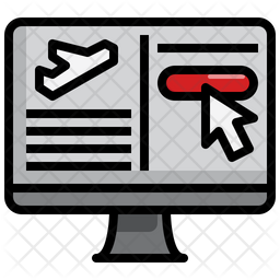 Booking Air Ticket Icon