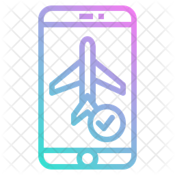 Booking Flight Ticket Icon