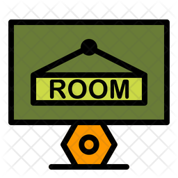 Booking Hotel Icon Of Colored Outline Style Available In Svg Png Eps Ai Icon Fonts