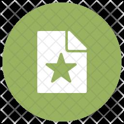 Bookmark Document Glyph Icon