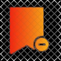 Bookmark Remove Gradient Icon