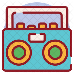 Boombox Colored Outline Icon