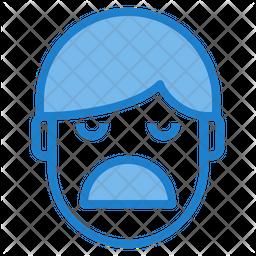 Boring Emotion Face Emoji Icon