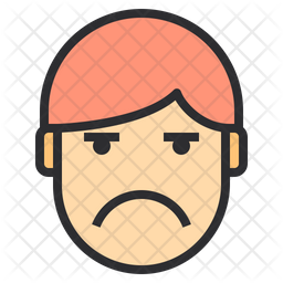 Boring Emotion Face Emoji Icon