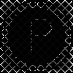 Botswana Pula Glyph Icon