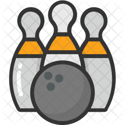 Bowling Colored Outline Icon
