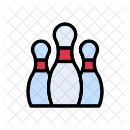 Bowling Pins Icon Of Colored Outline Style Available In Svg Png Eps Ai Icon Fonts