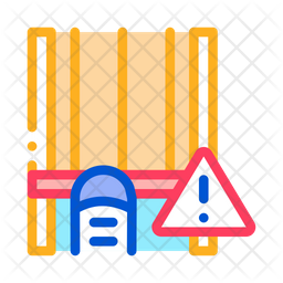 Bowling Track Colored Outline Icon