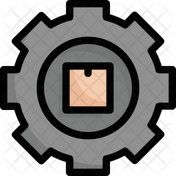 Box In The Gear Icon