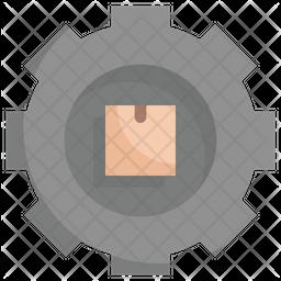 Box In The Gear Icon