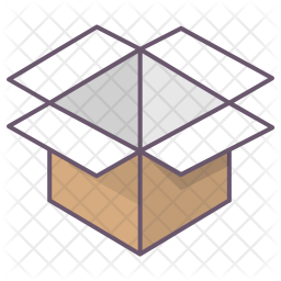 Box, Package, Parcel, Office, Open, Unpack, Delivery Icon