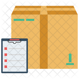 Box Package With Checklist Icon
