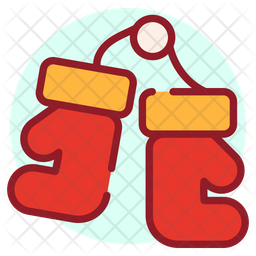 Boxing Day Colored Outline Icon