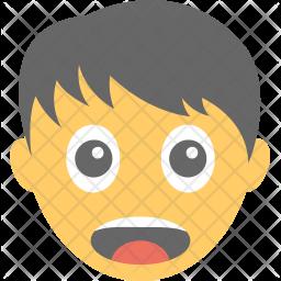 Boy Surprised Icon