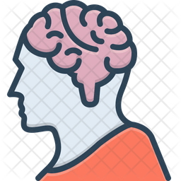 Brain Colored Outline Icon