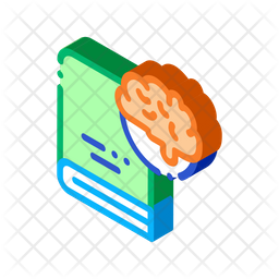 Brain Book Icon Of Isometric Style Available In Svg Png Eps Ai Icon Fonts