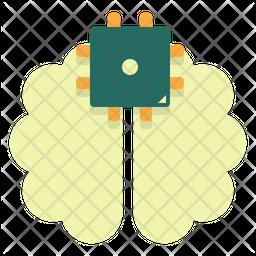 Brain Chip Icon