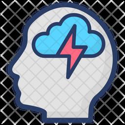Brain Energy Icon