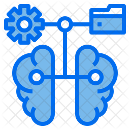 Brain Network Dualtone Icon