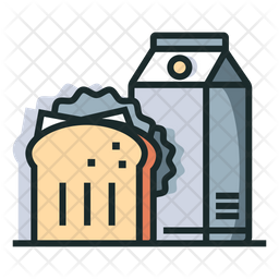 Breakfast Colored Outline Icon