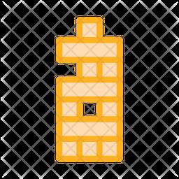 Bricks Colored Outline Icon