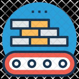 Bricks Loading Conveyor Icon