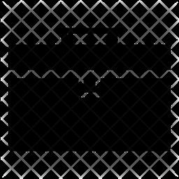 Briefcase Glyph Icon