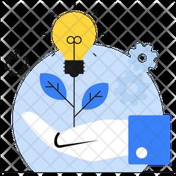 Bringing Idea Flat Icon