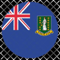 British virgin Flag Icon