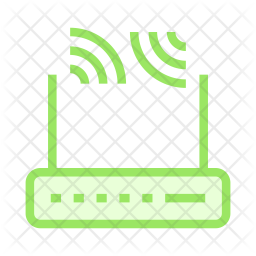 Broadband Colored Outline Icon