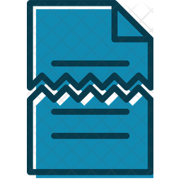 Broken Document Colored Outline Icon