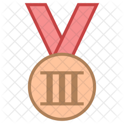 Bronze Medal Icon Of Colored Outline Style Available In Svg Png Eps Ai Icon Fonts