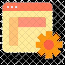 Browser delvelopment Icon