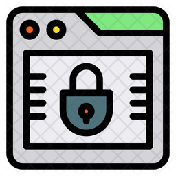 Browser Lock Colored Outline Icon