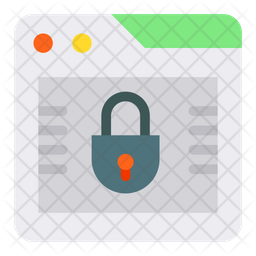 Browser Lock Flat Icon