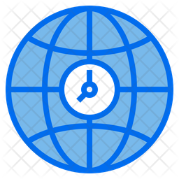 Browser Time Colored Outline Icon