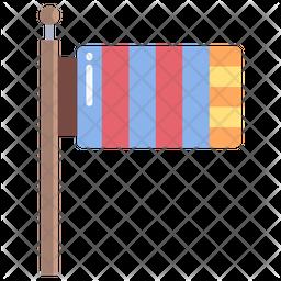 Buddhism Flag Icon