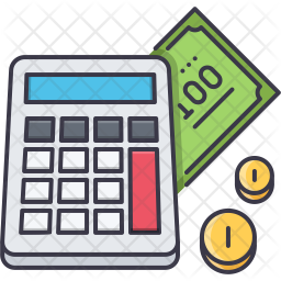 premium budget calculation icon download in svg png eps ai ico