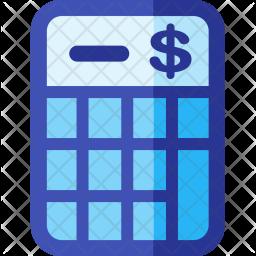 Budget, Calculator Flat Icon
