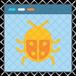 Bug Flat Icon