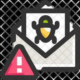 Bug Mail Warning Icon