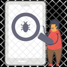 Bug Scanning Icon