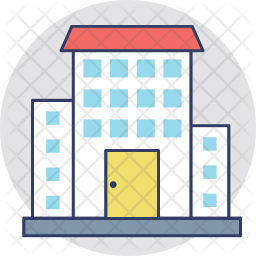 Building Colored Outline Icon