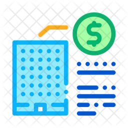 Building Cost Colored Outline Icon